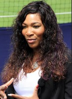 Serena Williams with her curly long hairstyle