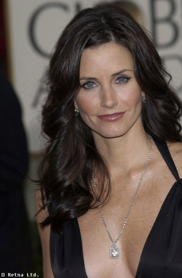brunette long hairstyles. Courtney Cox with long hair,