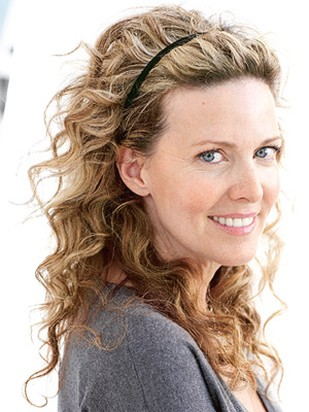 hairstyle for long curly hair. mature women hair cut