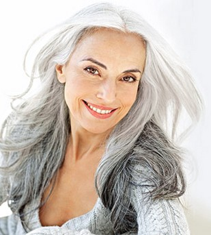 Grey Hairstyles for Older Women with Long Hair
