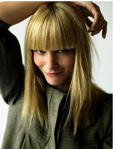 long blonde hairstyles with bangs. Slide Show for album :: Long