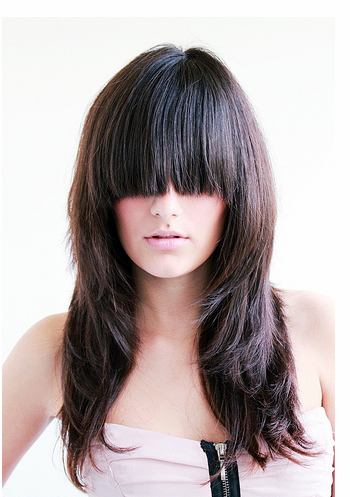 Long Layer Hair Cuts on 2010 Layered Long Hairstyles For Women With Extreme Long Bang