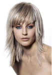 Ice blone women hairstyle with layers and long bang.PNG