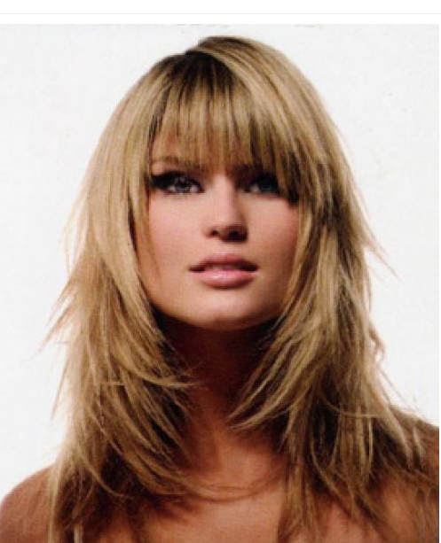 hairstyles for long hair with fringe. Beauty Long Straight Hairstyle