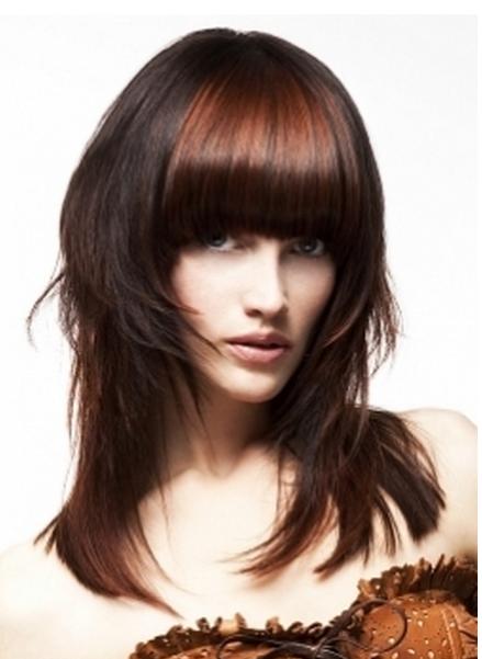 Стрижки на длинные густые волосы с челкой