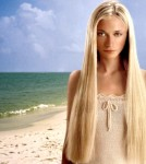 Very Long straight hair style, blonde