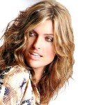 Long layered & wavy hair style, blonde