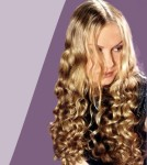Long hair style with curls - women curly hair style, blonde