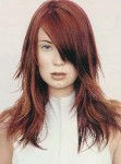Long layered hair style photo, two toned