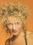 Long hair style, blonde, perm