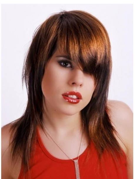 Women cute long hairstyle picture with long bang.PNG