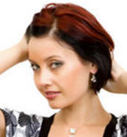 Modern bob women hairstyle with layers and highligts.PNG
