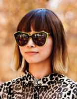 Women medium hairstyle with bangs and ombré.PNG
