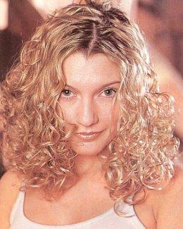 Medium Hair Style Blonde Layers Perm