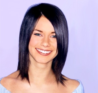 Blue Hair Cuts on Medium Layered Hair Style  Blue Black Picture