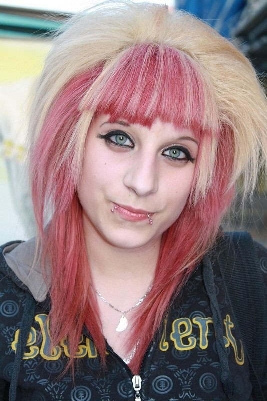 Teen emo hair in two colors.jpg photo