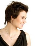 cool spiky young woman hairstyle with layers.JPG