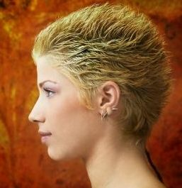 Very Short Women Hairstyle With Extreme Layers