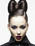 Bow hair hairstyle picture