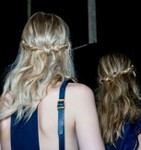 Cute prom hairs with Half up tousled waves