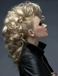 Large curly mohawk hairstyle