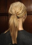 Messy sexy Textured ponytail perfect for prom
