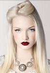 Simple elegant hairdo blonde hair