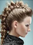 Women braided mohawk