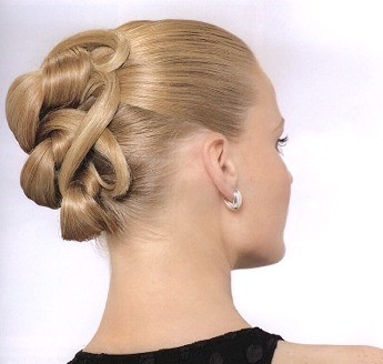 Updo hair style, blonde