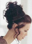 Prom - updo hair style with curls on the crown updo, brunette