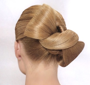 Elegant Updo hair style, blonde - formal updo hairstyle