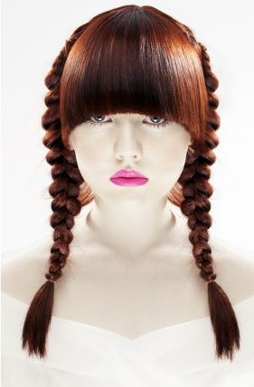 women braided hair