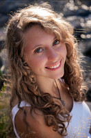 Beautiful natural women curly hairstyle with curly side bangs