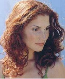Women Curly Hairstyle Red Hair