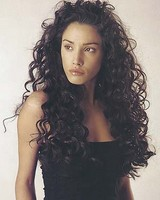 Long very curly hair style, thick, black -  womens long hair style