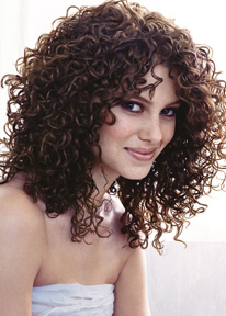 Long hair style with perm, big hair style, brunette picture