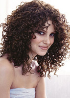 Long hair style with perm, big hair style, brunette