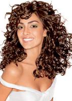 Long hair style with beautiful big curls, dark brown -pic of long hair woman