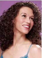 woman extremely curly and chic long hair style with full volume.JPG