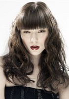 young women glamourous feminine hair style with long fringe image.JPG