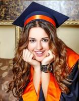 Stylish gradutation with cute small curls
