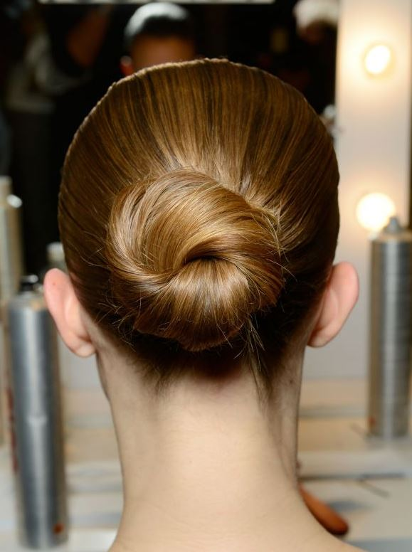 Shinny Sleek Bun Prom Updos Pictures