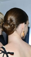 Sleek updo for prom day