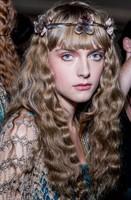 Wavy long fairytale hair with floral headband
