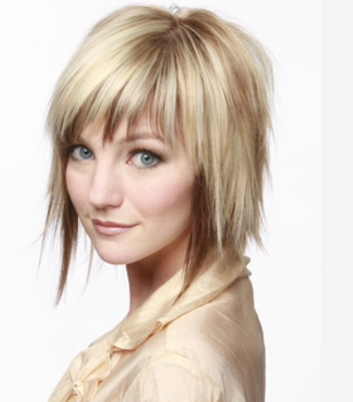 Cool medium short women hairstyle with two tones and spike hairt on ...