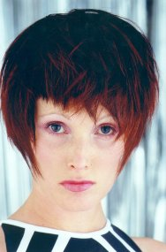 Excellent Short Hairstyle Blunt Bangs Layers Red Short Hairstyles Gunalazisus