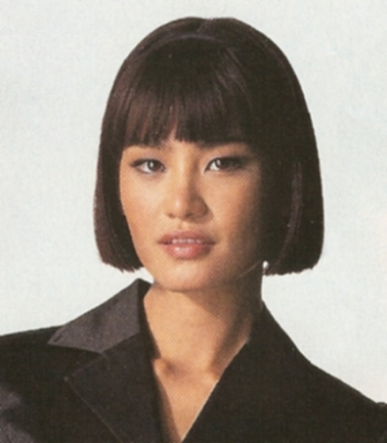 asian bangs hairstyle. Short hair style for Asian