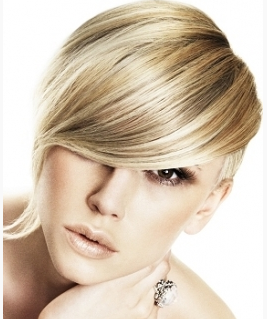 Very Short Modern Women Hairstyle With Long Side Swept