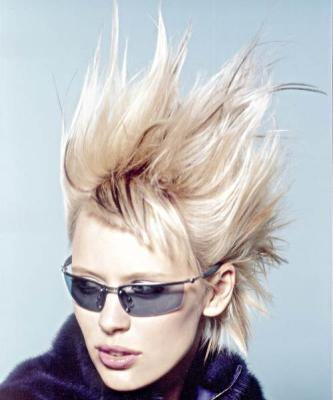 Wondrous Short Spiky Amp Layered Hair Style Funk Blonde Hairstyles For Men Maxibearus