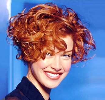 Short Curly Hair Style, Red